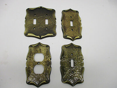4 vintage Amerock carriage house plates- 1 outlet, 2 switch & 1 double switch
