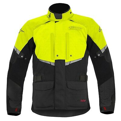 Alpinestars Andes Motorcycle Motorbike Textile Jacket Black Fluorescent NEW