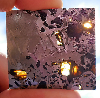 19.4 gram SEYMCHAN METEORITE pallasite  - Beautiful GLOWING CRYSTALS