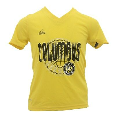 Columbus Crew Climalite Official Adidas MLS Kids Youth Girls Athletic Shirt New