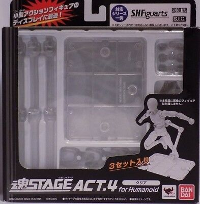 Bandai Tamashii Stage Act.4 for Humanoid Figure Clear Display Stand 4 USA Seller