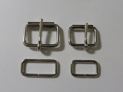 Nickel Half   Roller Buckle - Wire Formed  - With Belt Loop -Choice Of Sizes