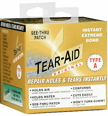 Tear Aid Type A 5ft - 1.5m Fabric Repair Kit, Canvas, Kite, Swag, Awning, Canopy