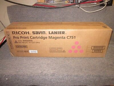 828187 NEW Genuine Ricoh Savin Lanier Magenta Pro Print Cartridge for the C751