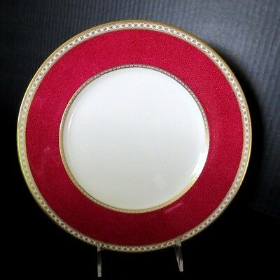 """Wedgwood ULANDER POWDER RUBY 10.75"""" Dinner Plates DISCONTINUED (12 AVAILABLE)"""
