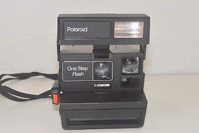 Vintage Polaroid 600 One Step Flash Instant Film Camera W/Strap Tested Working