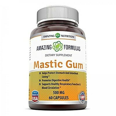 Amazing Formulas Mastic Gum 500 Mg 60 Capsules - Supports Gastrointestinal He...