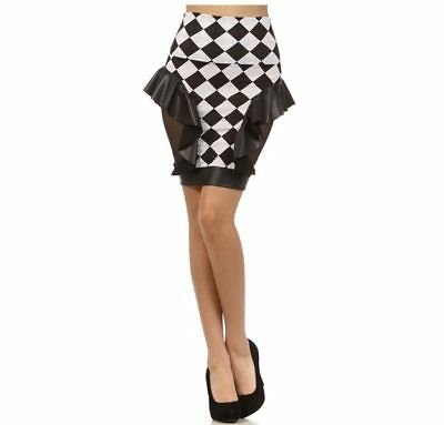 Metallic Mix Peplum Skirt