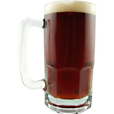 German Style Extra Large Glass Beer Mug - 34 oz (1) 1 Liter