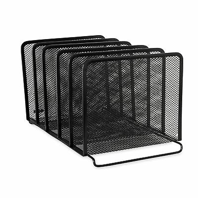 Rolodex Mesh Collection Stacking Sorter 5-Section Black (22141) 1