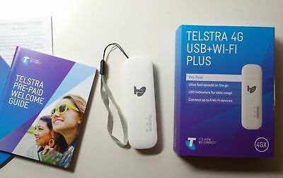 @@UNLOCKED TELSTRA 4G USB + WiFi Hotspot 4GX Modem 3GB DATA SIM MOBILE BROADBAND