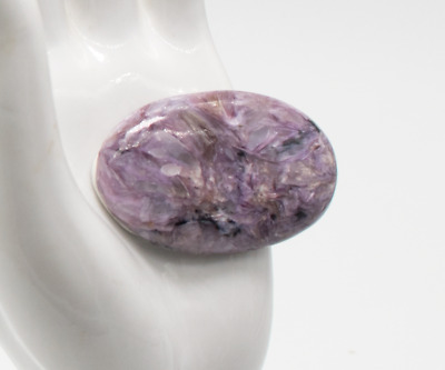 CH52 CHAROITE  65Ct 100% NATURAL Untreated OVAL Cabochon Gemstone USA Seller