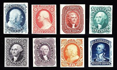 US 40P4-47P4 1857-1860 Issue Proofs on Card VF-XF SCV $580