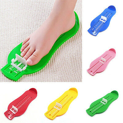 Child Toddler Accurate Foot Measure Gauge Infant Shoes Size Measuring Ruler Tool