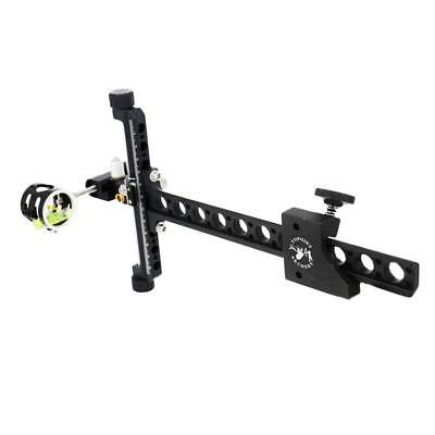 1-Pin CNC Archery Competition Compound Bow Sight with Micro Adjustable Pole
