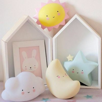 Lovely LED Night Light for Baby Kid's Room Decorations Lamp Star Moon Sun /Cloud