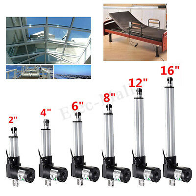 4000N/900Lbs Linear Actuator Motor Door Opener Heavy Duty Bracket Lift 12V 2-16″