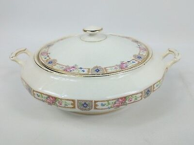 Vtg Vitreous Edwin M Knowles China Co. Covered Dish Serving Bowl w/Lid 16-2-11