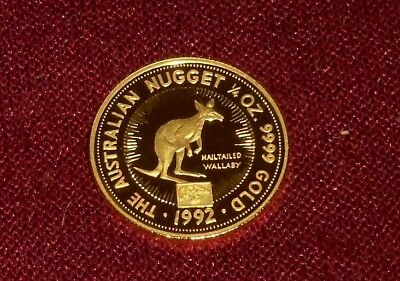 """1992 Australia Gold Nugget """"eagle Privy"""" $25 Wallaby, Rare  First Year Gem"""