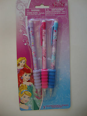 """ DISNEY - PRINCESS ""  3 pack, mechanical  Pencils, Comfort Grip, Beautiful, NEW"