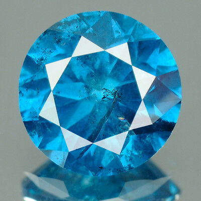 3.00 Cts. CERTIFIED Round Enhanced Fancy Blue / Yellow / Green Natural Diamond A