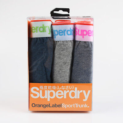 Superdry Size XL Men's Sports Trunk Boxer Shorts Underwear Cyan/Gray/Marl