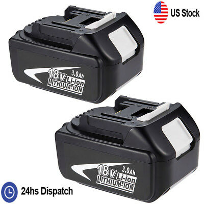 2PACK 18V 3.0Ah Lithium-Ion Batteries LXT Battery For Makita BL1830 BL1815