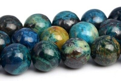 """8MM Natural Multicolor Chrysocolla Grade A Round Gemstone Loose Beads 14.5"""""""