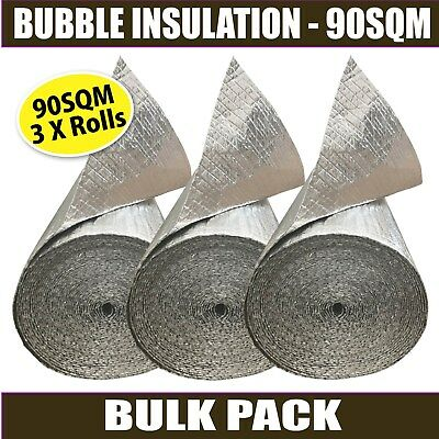 90M2 Radiantshield Air Bubble Cell Insulation Reflective Foil Roof Aluminium