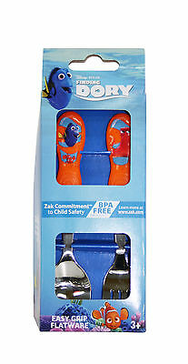 Disney Finding Dory 2Pce Easy Grip Flatware Spoon & Fork Cutlery Set