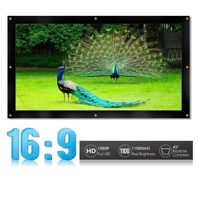 """100/120"""" 16:9 Projection Screen +Stand Fixed Frame For Outdoor Movie Show Lot CT"""