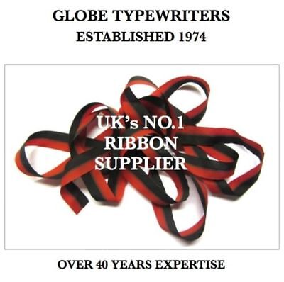1 x 'IMPERIAL PORTABLE 3' *BLACK/RED* TOP QUALITY *10 METRE* TYPEWRITER RIBBON