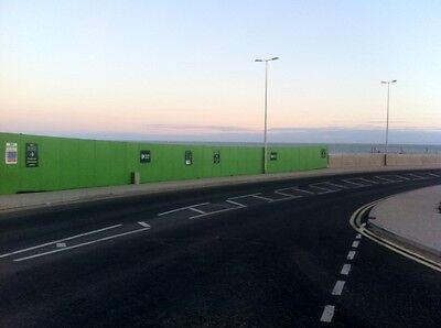1.2m Wide x 2.4m High Hoarding 200 Panels Complete With 750kg Concrete Blocks