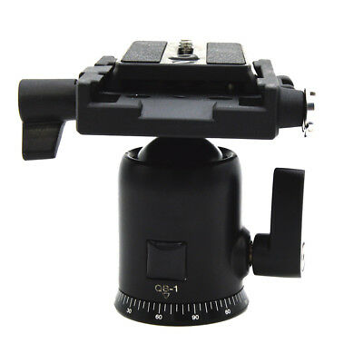 "Camera Tripod Ball Head With Quick Release Plate 1/4"" 3/8 ""Screw For DSLR"