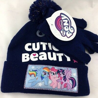 e3159ddffef63 HASBRO MY LITTLE Pony Hat and Gloves Cold Weather Set-4151 -  12.00 ...