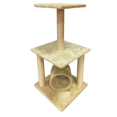 Grattoir Arbre à Chat Beige Peluche Sisal Chat Animaux