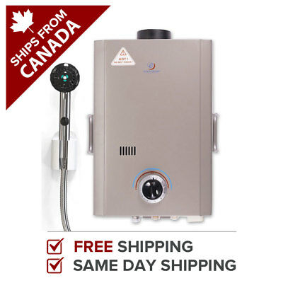 Tankless Water Heater Propane Instant Hot Anywhere Eccotemp L7