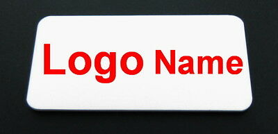 Full Color Name Badge - Name Tag Magnet Fastener Your Name and Logo Custom Made