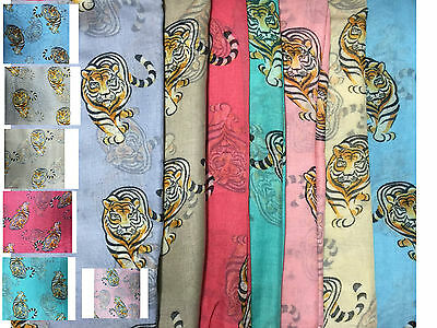New Arrival Tiger Print  Light Large Scarf Shawl Wrap
