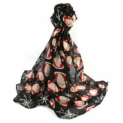 New Arrival Santa Father Christmas  Print Neck Scarf Womens Neck Wrap