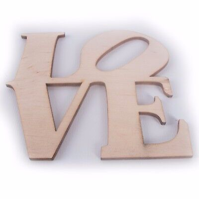 Wooden Love Letters Home Decor Plaque Sign Craft Art