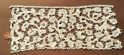 Handmade Bobbin lace Study piece  Probably 17-18th C. Flemish COLLECT