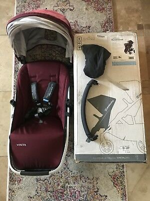 UPPAbaby Vista Add-On Rumble Seat In DENNISON Bordeaux NEW