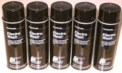 Lot of 5 8 oz. Spray Cans Electro Wash Electronics Degreaser (Chemtronics C80)