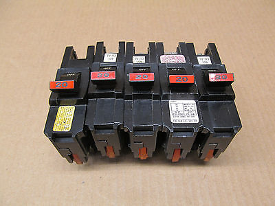 5 Fpe Federal Pacific Na120 Na Circuit Breaker 20 Amp 20A 1P 240V  Lot Of 5