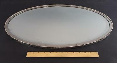 Antique Pat 1908 Brasscrafters Victorian Oval Nickel Plated Bathroom Wall Mirror