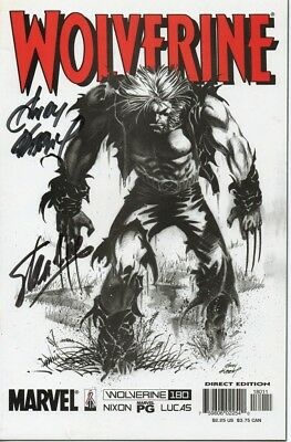 WOLVERINE Marvel comic personally signed STAN LEE and ANDY KUBERT