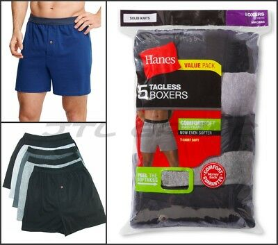 Hanes Men's 5-Pack Red Label FreshIQ Comfortsoft Boxer with ComfortFlex Waistban