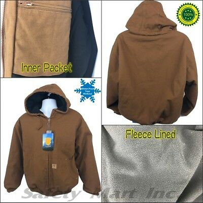 Heavyweight Canvas Men's Brown Winter Duck Active work Jacket / Thermal Lined