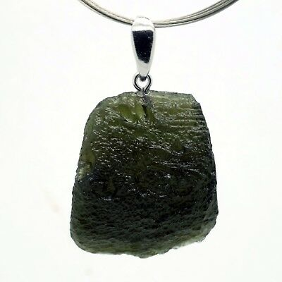 MOLDAVITE - 8.40 grams Sterling Silver Pendant - PERFECT GIFT - THE BEST PRICE